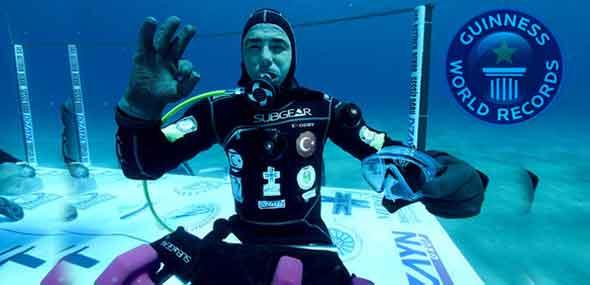 Weltrekord im Unterwasserbleiben