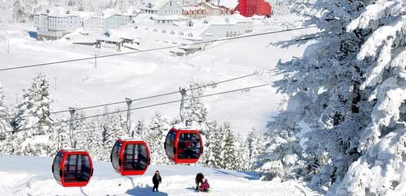 Türkisches Skigebiet