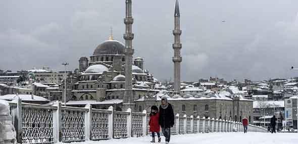 Minustemperaturen Schnee Türkei