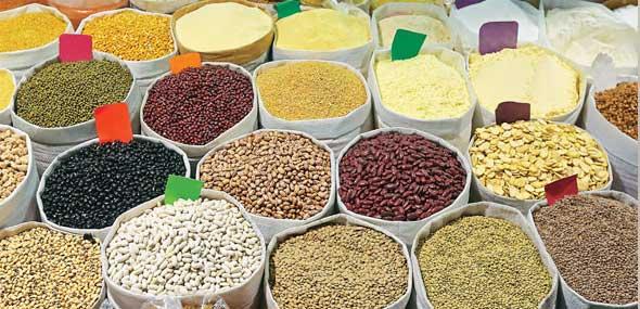 Hülsenfrüchte und Getreide
