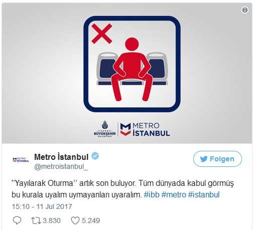 Manspreading Türkei