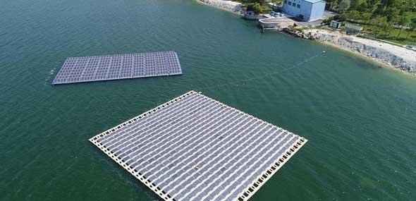 Schwimmende Solaranlag Türkei