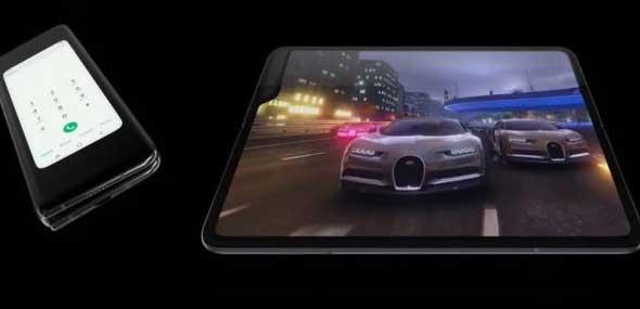 Samsungs faltbares Smartphone Galaxy S10 Fold