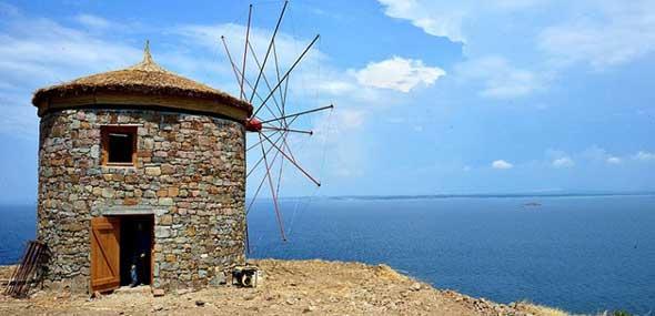 Historische Windmühlen Türkei
