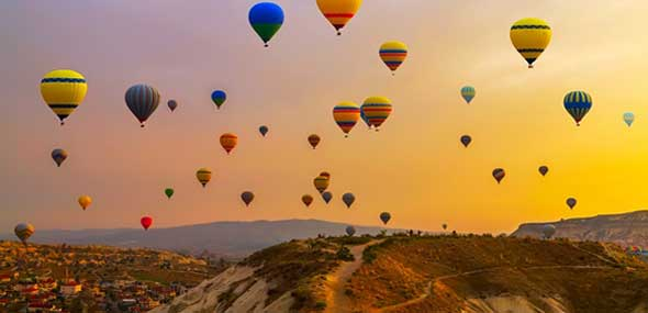 Kappadokien Heißluftballon-Festival