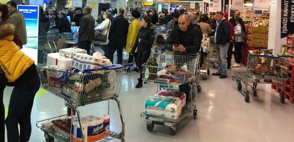 Coronavirus Hamsterkäufe in der Türkei
