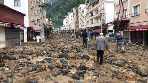 Überschwemmung Giresun Türkei