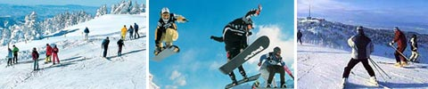 Snowboard-Fun und Snowboard Pisten