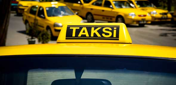 Türkische Taxifahrer