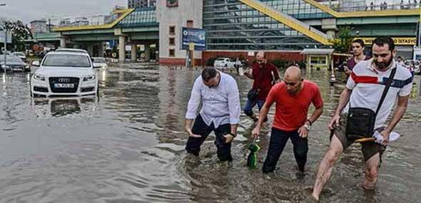Schwerer Niederschlag in Istanbul