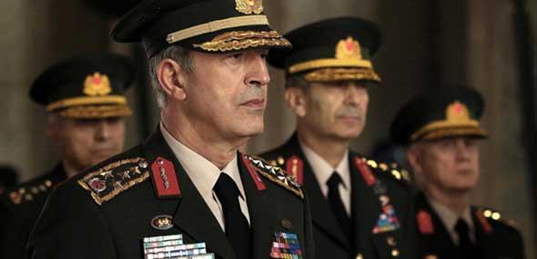 Türkischer Militärstab