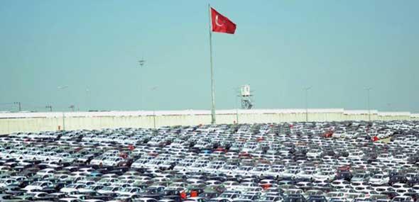 Gesamtfahrzeugproduktion der Türkei