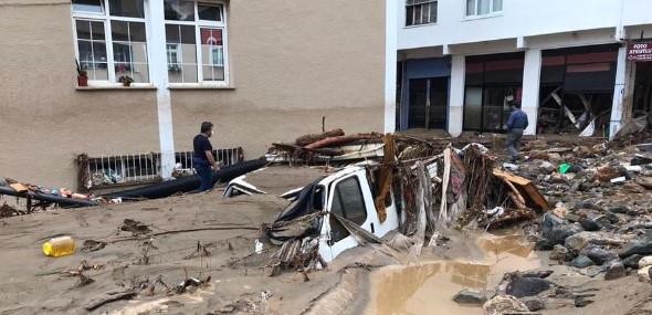 Starker Regen Naturkatastrophe Giresun