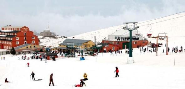 Skigebiet Uludag schneebedeckt